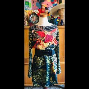 Perfect Fall DESIGUAL Knit Mini Dress Sumptuous M